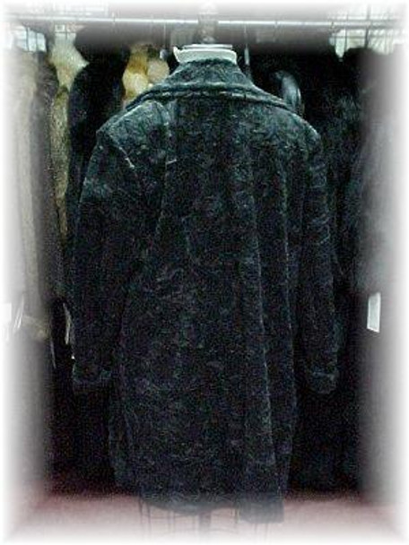 Sheared-Style Gray Faux Fur Jacket