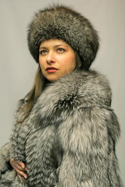 Silver Fox Fur Design Coat