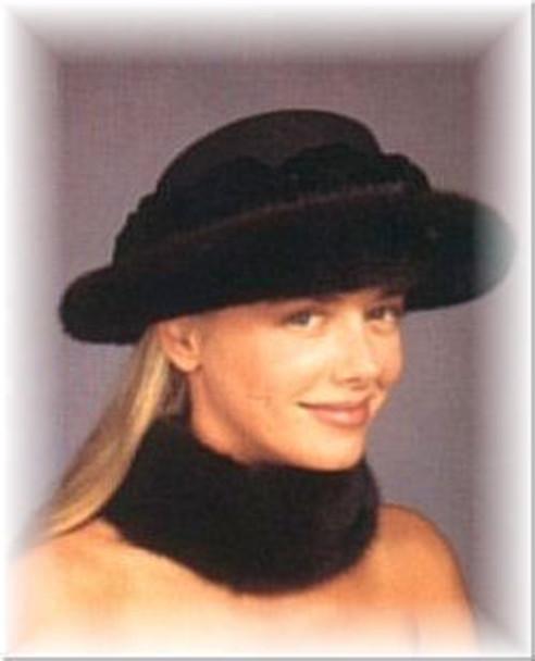 Mink Brim Fur Hat