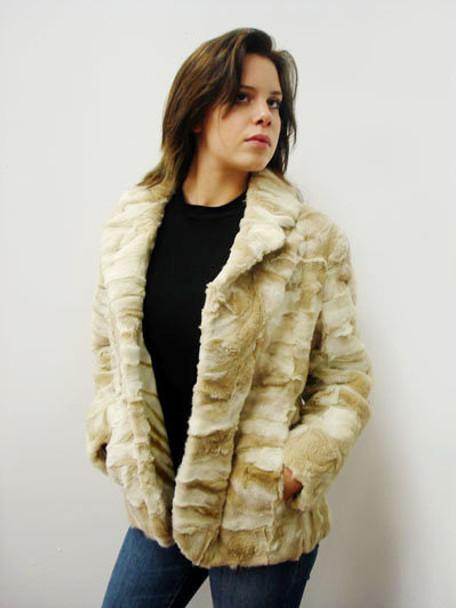 Snow Top Sheared Fox Fur Design Jacket