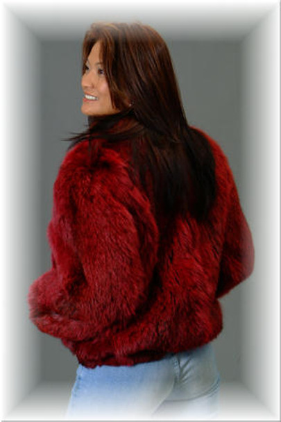 Burgundy Lynx Fur Jacket