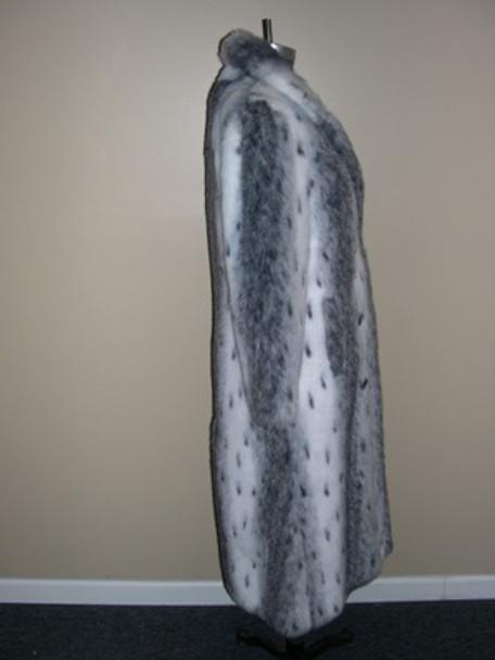 Faux Natural Seal Long Coat