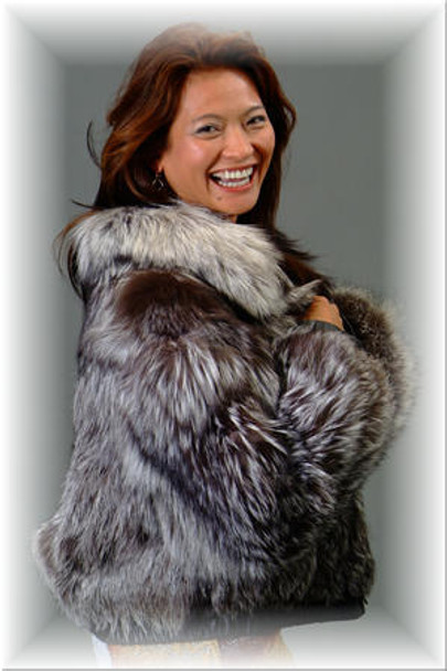 Beautiful Silver Fox Bolero Jacket