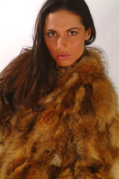 Vintage Sectional Raccoon dyed Golden Fur Jacket