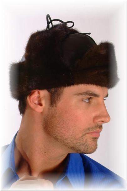 Mahogany Mink Trooper Fur Hat