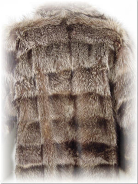 Full Skin Raccoon Fur Jacket with Raccoon Fur Collar