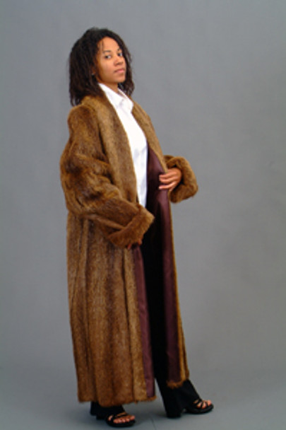 Vintage Fur Nutria Long Coat