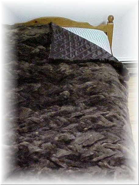 Sectional Sheared Beaver Fur Blanket