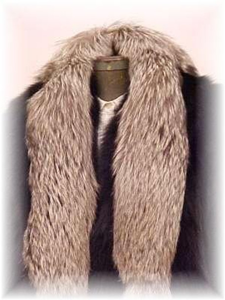 Full Skin Silver Fox Fur Scarf