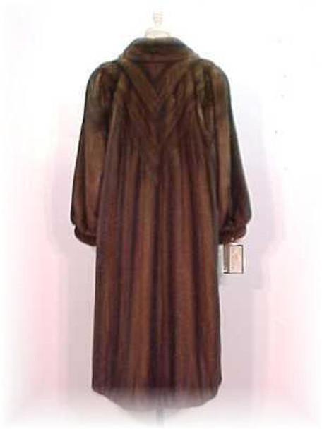 Mahogany Mink Fur Coat 4