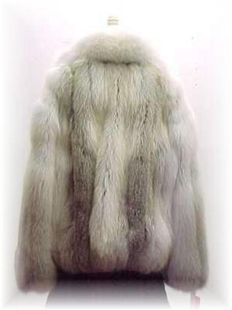 Full Skin Cross Fox Fur Bomber Jacket