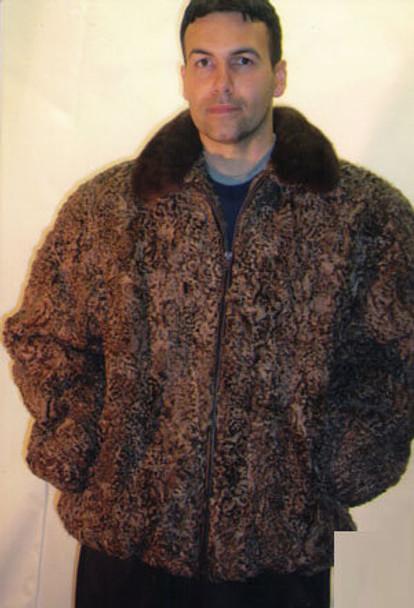 Mens Persian Bomber Fur Jacket