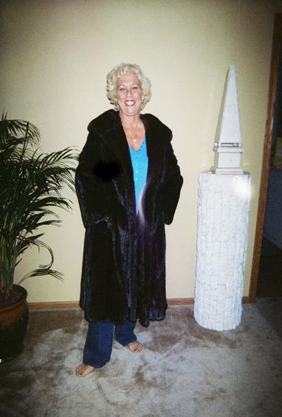 Full Lenth Mahogany Mink Fur Coat