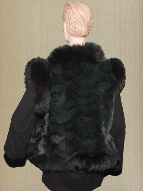 Black Mink With black Fox Trim Vest