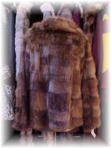 Beaver Fur Jacket With Zipper