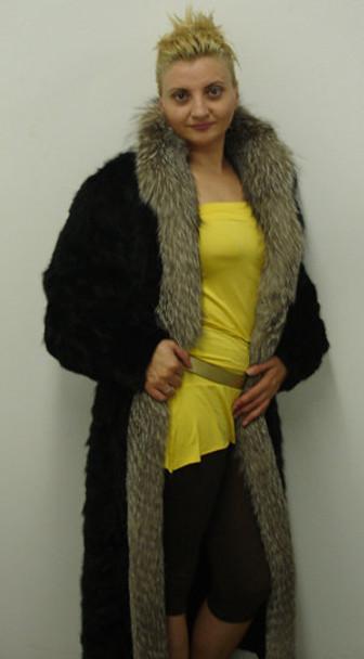 Indigo Fox Fur with Sectional Mink