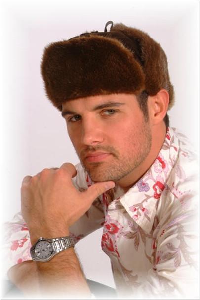 Brown Swade Fur Trooper Hat