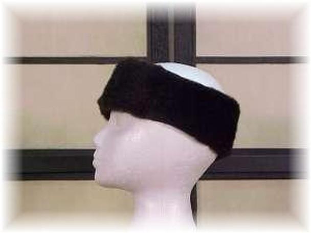 Full Skin Dark Mahogany Mink Fur Head Wrap