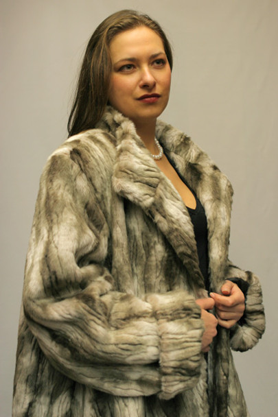 Faux Fur Mink 3/4 Jacket