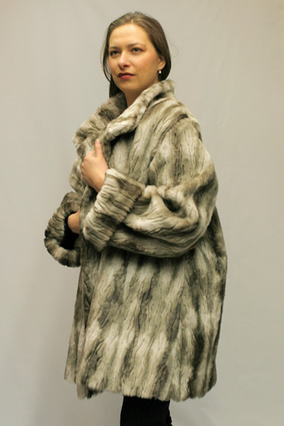 84f3d4050726 Faux Fur Mink 3/4 Jacket - furoutlet - fur coat, fur jackets, fur ...