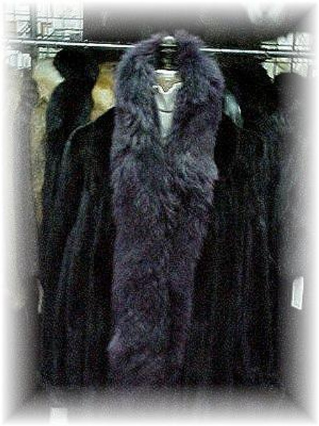 Dyed Purple Fox Tail Fur Scarf