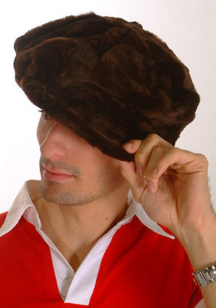 Brown Hat Mink Fur Men's