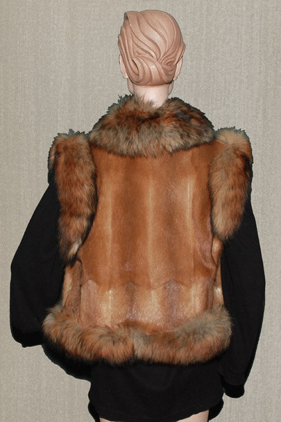 Fox Vest With Full Skin Mink Design