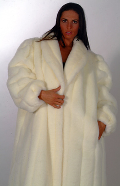 White Faux Fur Coat 1
