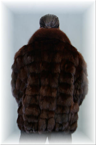 Brown Fox Bomber Fur Jacket 1
