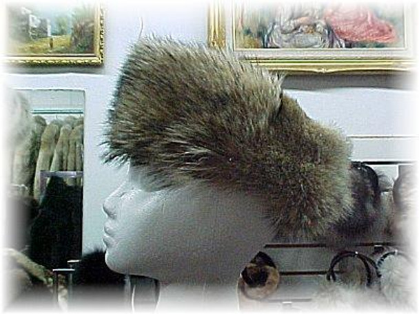 Full Skin Coyote Fur Head Wrap