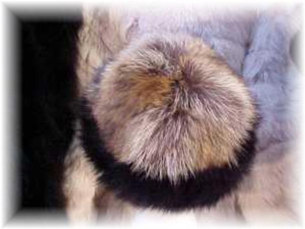 Raccoon Fur Hat with Black Fox Fur Trim