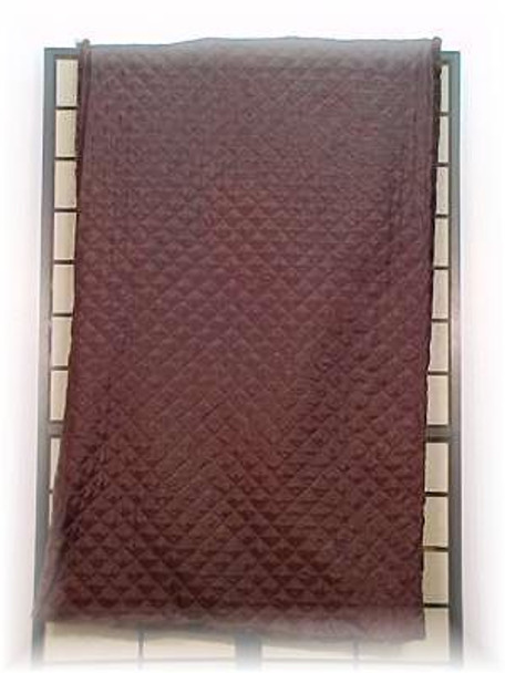 Sheared & Dyed Dark Brown Beaver Fur Blanket