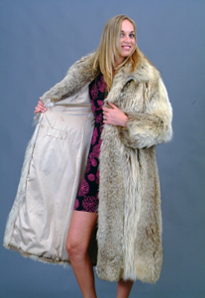 Vintage Full Skin Coyote Coat