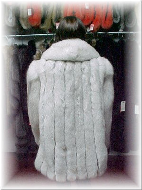 Full Skin Fox Fur 3/4 Jacket