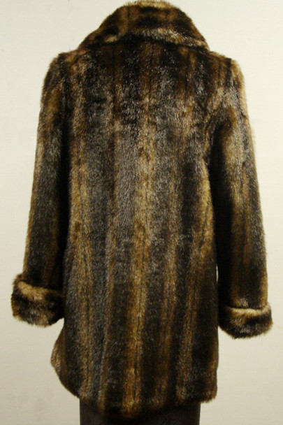 Faux Fur Mink Jacket With Cuffs