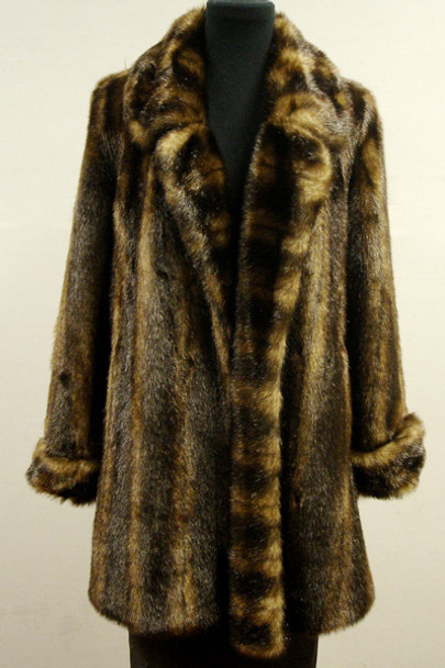 633fc08b7c04 Faux Fur Mink Jacket With Cuffs - furoutlet - fur coat, fur jackets ...