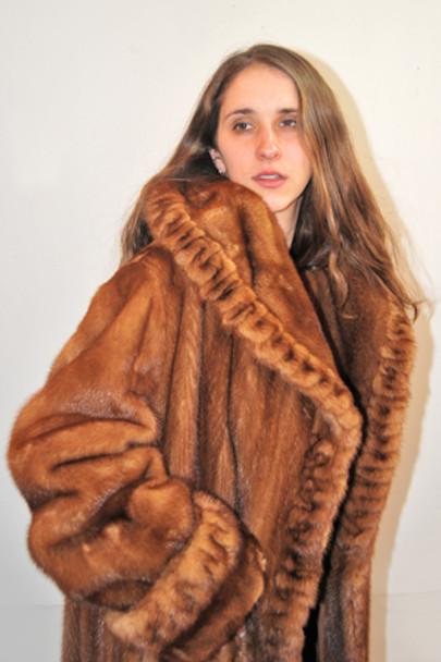 Whisky Mink Fur Coat