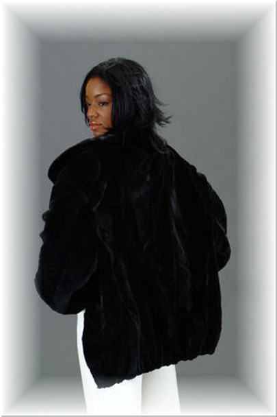 Sheared Mink Fur Bomber Jacket 2