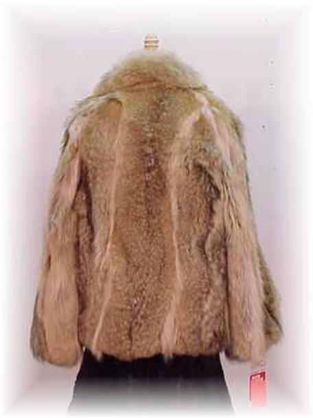 Unisex Full Pelt Coyote Men'sFur Bomber Jacket