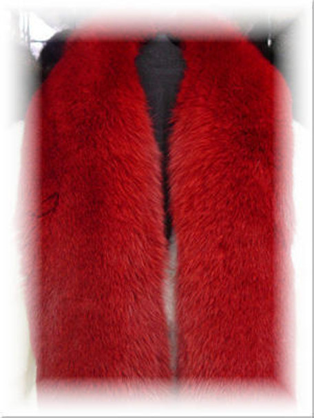 Buy Dyed Red Full Skin Fox Fur Scarf
