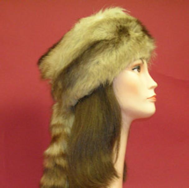 46c94a550d3 Daniel Boone Racoon Fur Hat - furoutlet - fur coat