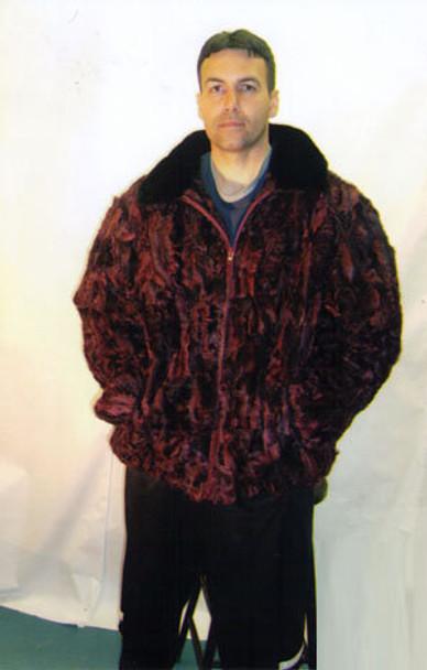Mens Mink Full Pelt Bomber Fur Jacket 8