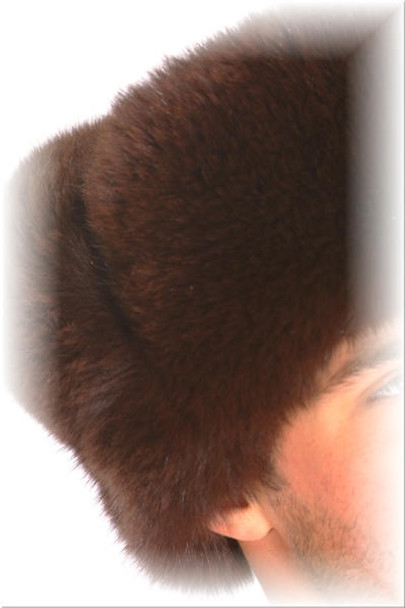 Brown Fox Fur Trooper Hat