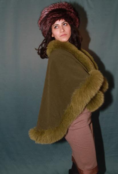 Green Fox Fur Cape