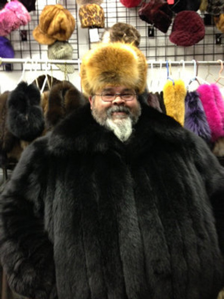 Natural Red Fox Trooper Fur Hat