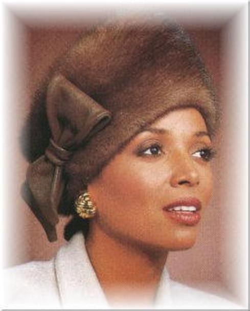 Mink Russian Accent Fur Hat