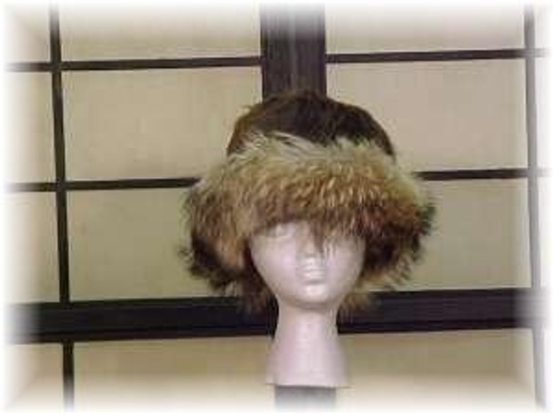 Full Skin Beaver Fur Hat with Finnish Raccoon
