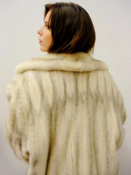 Vintage Mink Azurin Fur Bomber Jacket
