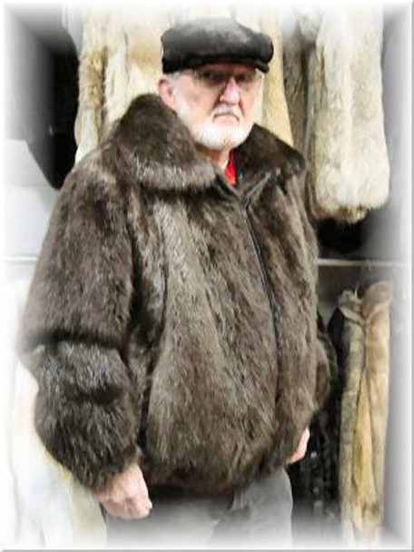 Full Skin Beaver Bomber Fur Jacket 1