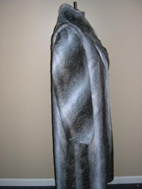 Faux Grey Raccoon Long Coat